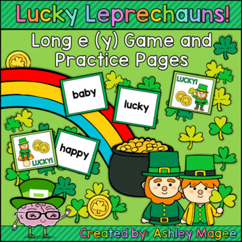 Lucky Leprechauns - Long e (y) Game and Practice Pages