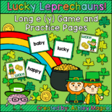 Lucky Leprechauns - Long e (y) Phonics Game and Practice Pages