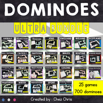 [ULTRA BUNDLE] Dominoes : 25 games for your fast finishers !