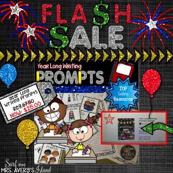 #flashsale Year Long Writing Bundle and Word Work Activities
