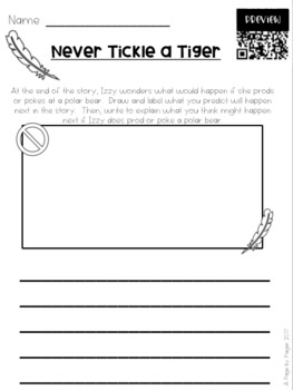 Listen and Respond Center with Audio QR Codes - 1st Grade April