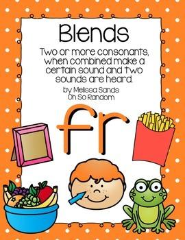 -fr Blend Anchor Chart & Practice {Click File, Print}