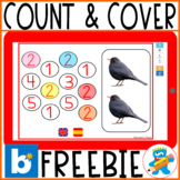 """#free sample Distance Learning Boom Cards """"Count & Cover"""""""