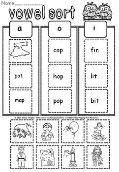 short vowels sort