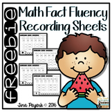 Math Fact Fluency Recording Sheets {freebie}