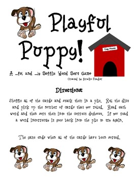 -ful and -ly Word Sort- Playful Puppy!