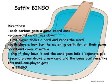 -ful, -less Suffix BINGO