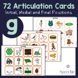 /g/ Articulation Flashcards - Initial, Medial and Final