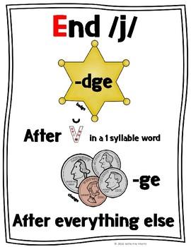 -ge or -dge Word Endings