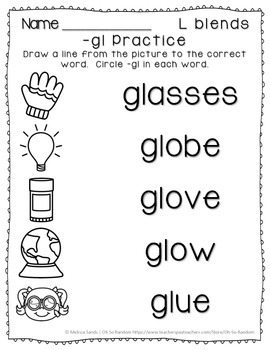 -gl Blend Anchor Chart & Practice {Click File, Print}