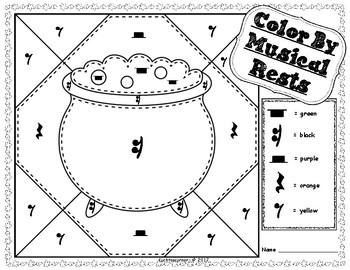 Halloween Edition: Color By Music Activity Packet - PDF Worksheets