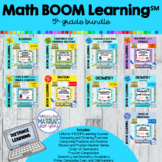 DISTANCE LEARNING Fifth Grade Boom Learning℠ MATH BUNDLE