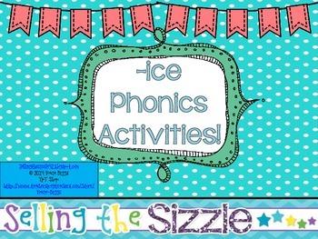 -ice Phonics Activities!