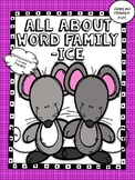 -ice Word Family Activity Pack! - No Prep! Word Work!