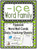 -ice Word Family Flipbook, Word Wall Cards and Data Tracking Sheets!