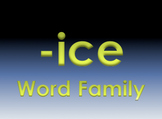 -ice Word Family Powerpoint