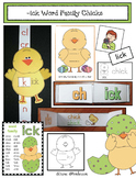 -ick Word-Family: Chick Activities & Slider Craft