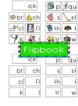 -ick Word Family Flipbook, Word Wall Cards and Data Tracking Sheets!
