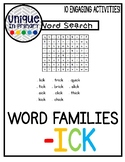 -ick Word Family Pack NO PREP