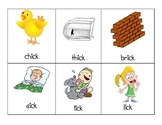 -ick Word Family Picture Cards