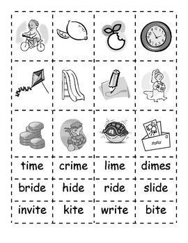 -ide -ime -ite Word Families