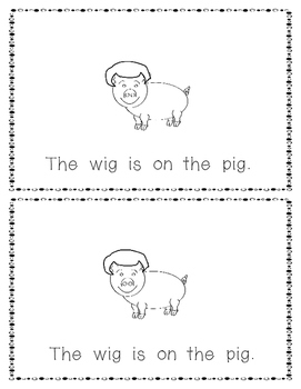 -ig Word Family Emergent Reader:  The Pig