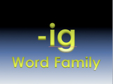 -ig Word Family Powerpoint