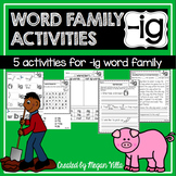 - ig  Word Family and Rhyming Activities—{No Prep!}