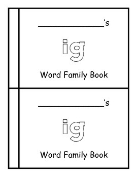 -ig word family book