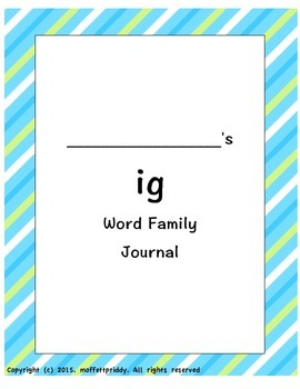 ig word family journal