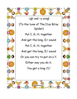 -igh and -y Phonics Chant/Song
