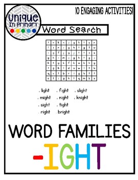 -ight Word Family Pack NO PREP