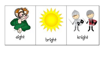 -ight Word Family Picture Cards