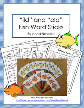 """ild"" and ""old"" Fish Word Sticks"