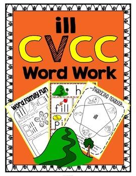 'ill' Word Family CVCC Word Work