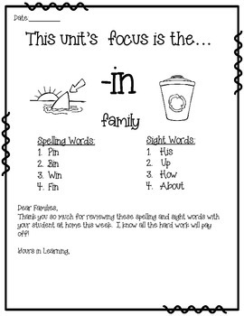 -in WORD FAMILY PHONICS AND SIGHT WORD WORK EARLY LITERACY DECODING