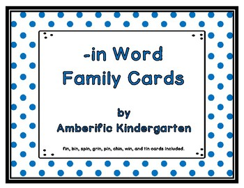 -in Word Family Cards