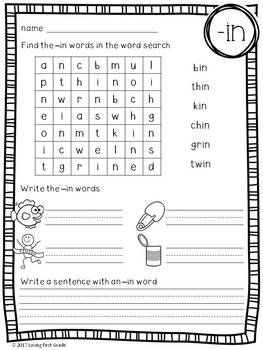 -in Word Family Pack