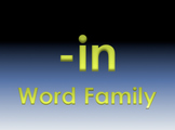 -in Word Family Powerpoint