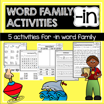 -in Word Family and Rhyming Activities—{No Prep!}