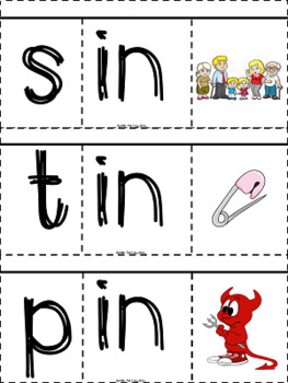 -in word family flip book