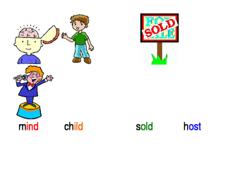 -ind, -ild, -old, -ost Phonics Poster