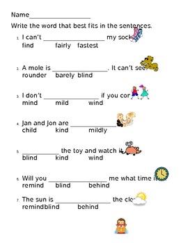 -ind worksheets--2 levels