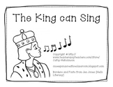 -ing Word Family Book - The King can Sing AND Activities