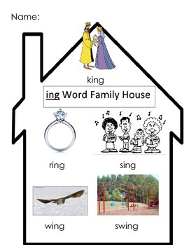 -ing Word Family House