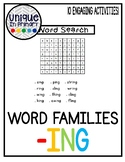 -ing Word Family Pack NO PREP