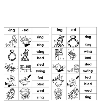 ing & -ed Word Families (f... by Gladys Daniels   Teachers Pay ...