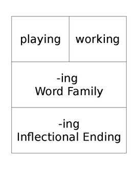 """""""-ing"""" family and inflectional ending word sort"""
