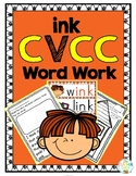 'ink' Word Family CVCC Word Work