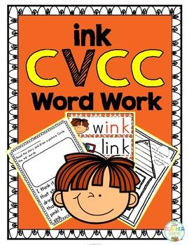 'ink' Word Family CVCC Word Work